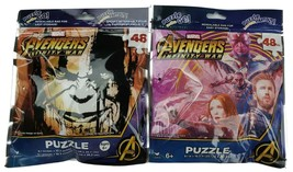 """Lot of 2 Marvel Avengers 9"""" x 10"""" 48 pieces Jigsaw Puzzle Kids Travel. New. - $9.89"""