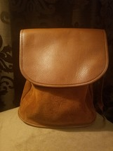 Vintage Coach Brown Suede and Pebbled Leather Backpack MINT CONDITION  - $139.99