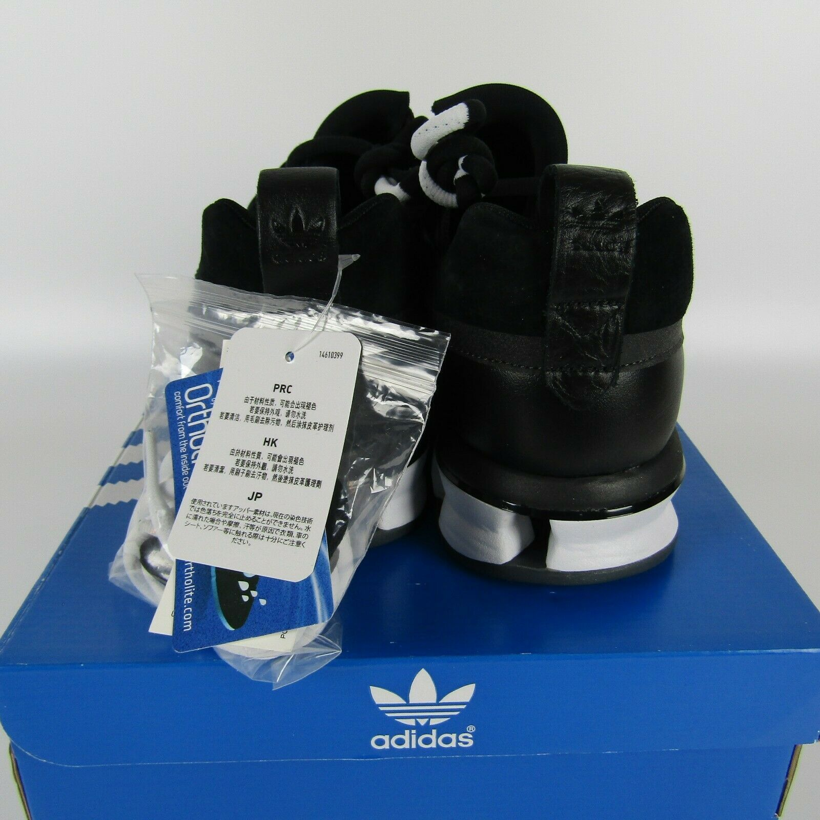 Adidas Twinstrike Adv Elástico Cuero Casual Zapatos Negros Blanco B28015 Size 13 image 5
