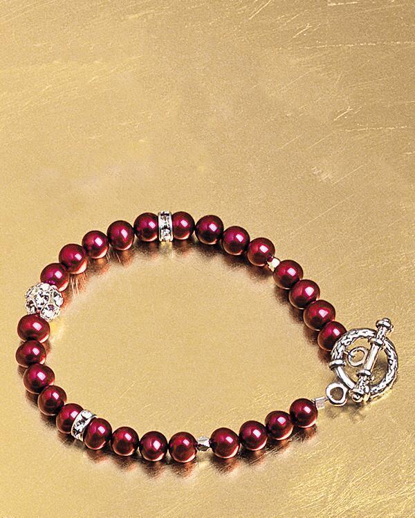 Smithsonian Crimson Freshwater Pearl Jewelry by Lynn Olander