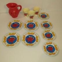 Vintage Kool-Aid Children's Play Tea Set Plates Pitcher & Cups 1983 - $15.00