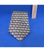 Rene Chagal Mens Neck Tie Hand Made 100% Silk Regal Elephants Navy Blue - $12.86