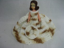 Vintage Hand Crocheted Doll Dress and Hat - $13.81