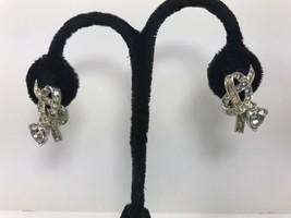 Vintage Signed Boucher Clip On Earring Baguette... - $54.99