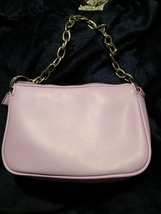 Forever 21 small pink/purple hand bag purse with chain polyurethane jell... - $16.00