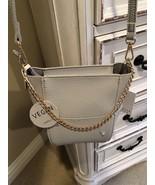 NWT ISABELLE Cream Vegan Leather Dome Mini Handbag + Detachable Shoulder... - $55.00