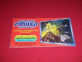 1987 Captain Power Interactive Videotape Rules Booklet 0007-0461 G1 Mattel - $14.01