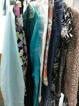 10 pc Bulk Lot wholesale Resell sz 2-8 Womens Clothing mixed brands tops... - $29.69