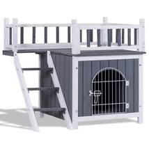 Two Sizes Wooden Pet House Dog Cat Puppy Room-M - $119.00
