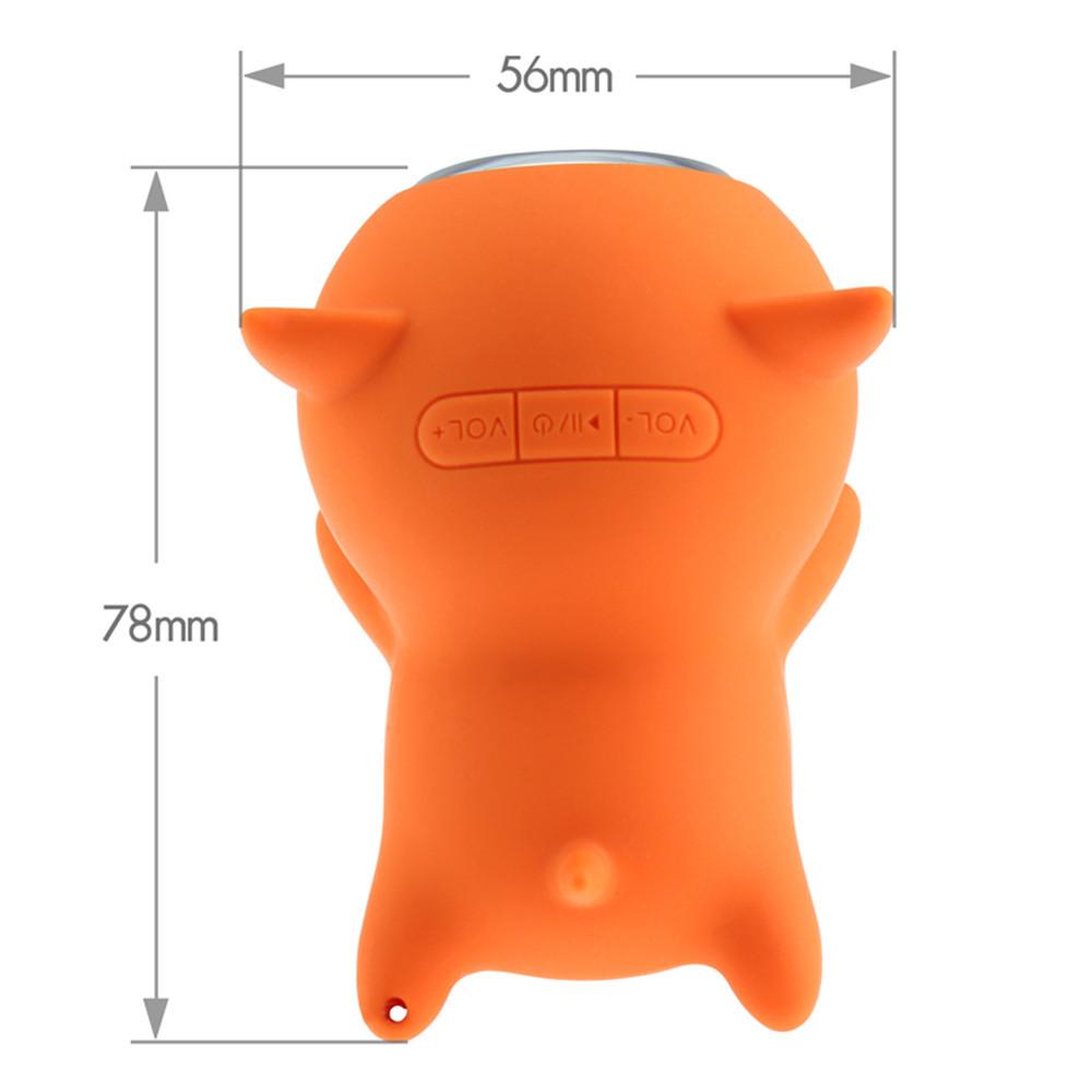 Cute Cartoon Piggy Portable Waterproof Mini Bluetooth Wireless Speaker