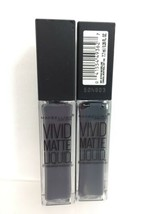 (2) Maybelline 55 Sinful Stone Color Sensational Vivid Matte Liquid Lipstick - $9.85