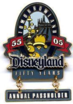 Disney Pin 40769 DLR Passholder Exclusive Fifty Years 50 Tomorrowland Di... - $46.60