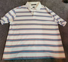 *Stained Nike Golf Tiger Woods Collection Dri-Fit Polo Shirt Stripe Mens... - $17.00