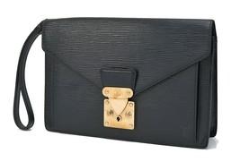 Authentic LOUIS VUITTON Sellier Dragonne Black Epi Leather Pochette Bag ... - $259.00