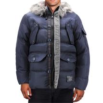 Men's Heavy Weight Warm Winter Coat Puffer Faux Fur Trim Sherpa Lined Jacket image 10
