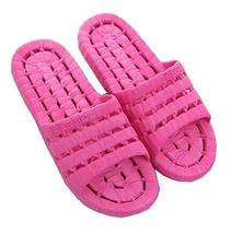 Shower & Water Sandals Household Slipper US6.5-7 Rose Red - $16.06