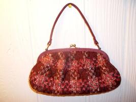 Vera Bradley Plaid Patchwork Tweed Suede Kisslock Handbag - ₨734.61 INR