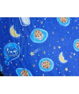 Chips Ahoy Cookies Twin Fitted Bed Sheet Chocolate Stars Outer Space Snack - $19.80