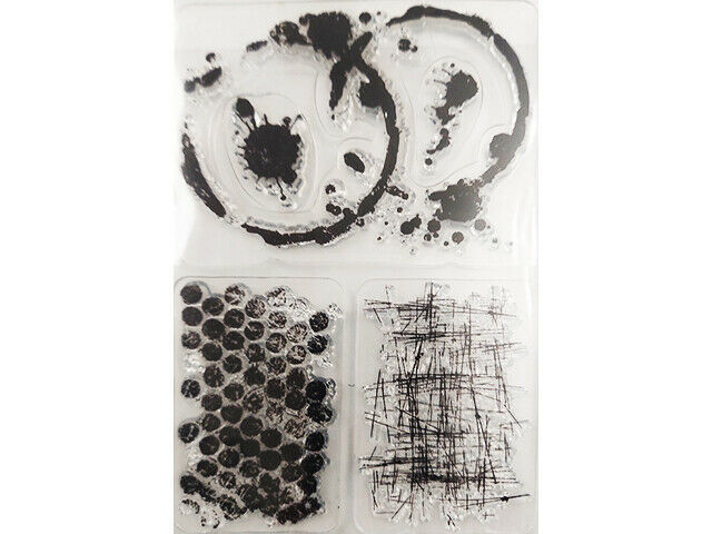 Mixed Media Clear Stamps, Set of 4