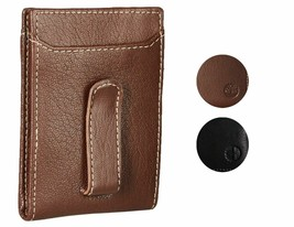 Timberland Men's Premium Genuine Leather Money Clip Credit Card Id Wallet image 1
