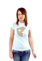 Famous Stars & Straps Womens Sky Blue Weave BOH Juniors T-Shirt New with Tags image 2