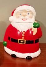 Vintage Santa Claus Christmas Holiday Season Ceramic Cookie Jar Collectible - $31.68