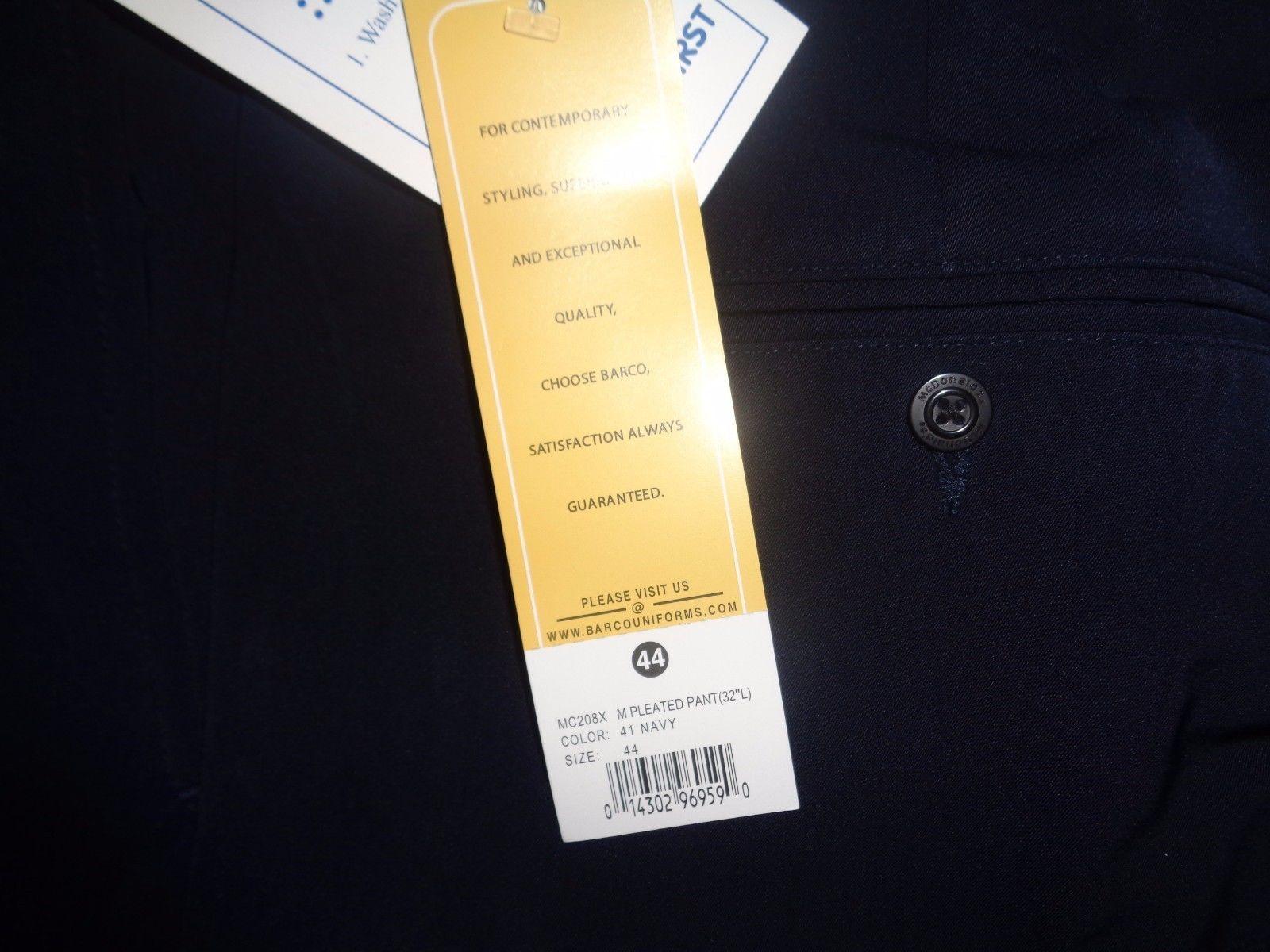 Barco Men's Uniform Navy Blue Work Slacks Pants NWT Sz 44 image 2
