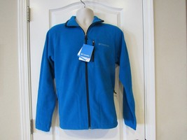 Columbia Fast Trek II Full Zip  Men's Fleece Jacket Blue Sz S & M NWT QU... - $34.58