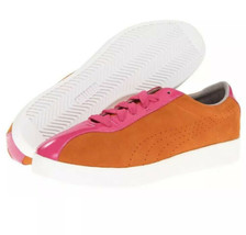 New Puma MUNSTER Women's Sneakers Lace-Up Oxford Flat Shoe ~Orange/Popsi... - $89.10