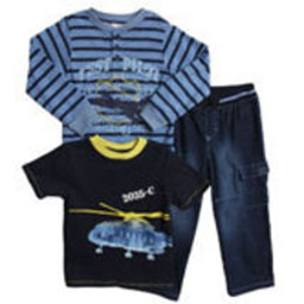Baby Togs Toddler Boys 3 Piece Pant Set