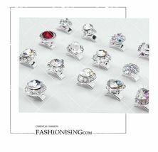5 pcs Nail Art 3D Crystal Charm Spinner Rhinestone Glitter Manicure DIY Decor image 10
