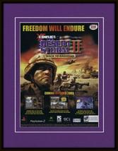 Conflict Desert Storm II 2003 PS2 Framed 11x14 ORIGINAL Advertisement - $34.64
