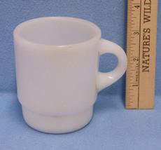 Vintage White Milk Glass Fire King Anchor Hocking Coffee Mug Cup - $10.88