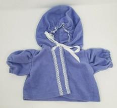 VINTAGE CABBAGE PATCH KIDS DOLL PURPLE PULLOVER JACKET / COAT TOP W/ HOO... - $11.30