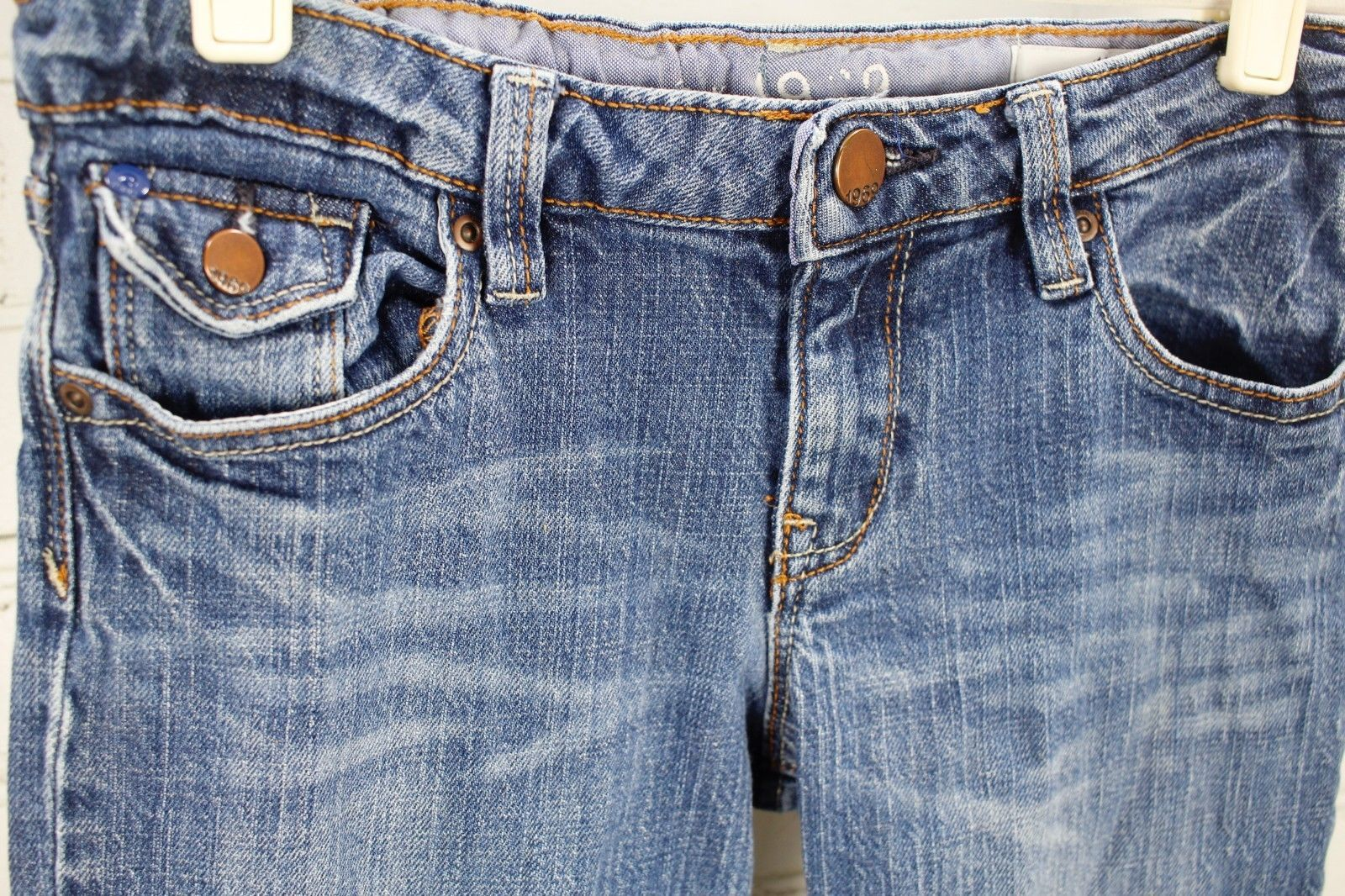 Gap Kids Straight Leg Jeans 1969 Boys Size 10 Plus Medium Wash Cotton Stretch image 2
