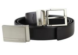 Calvin Klein Ck Men's Reversible Leather Buckle Belt 3 Piece Gift Box Set 74384 image 2