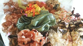 """Clearance on bows for wreath or packages 6"""" to 12"""" Colors of Orange Yell... - $7.70+"""