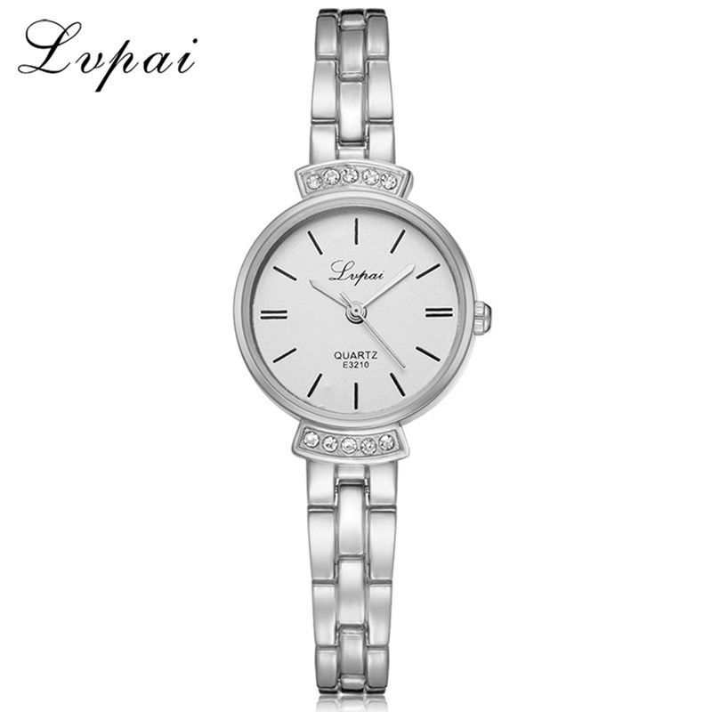 Lvpai® Women Fashion Luxury Watch Rose Gold Silver Ladies Bracelet Casual Dial