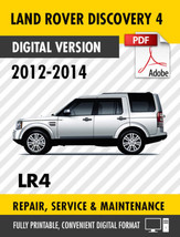 2012 - 2014 LAND ROVER DISCOVERY 4 LR4 FACTORY REPAIR SERVICE MANUAL / W... - $9.90