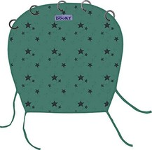 Dooky Sun Shade for Strollers - Designed with Green Stars - Pure Cotton Stroller