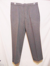 Levis Action Slacks Vintage Mens Pants W 36 X L 27 Gray Dacron Polyester No Iron - $32.00