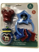 Disney Baby Rattle Assorted Multi Color 2 piece BPA Free - $6.80