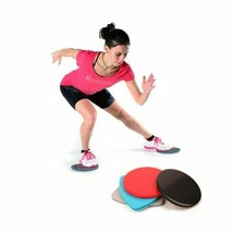 Slide Discs Nonslip Cloth Fitness Gliders Exercise Core Training Slimmin... - $21.99