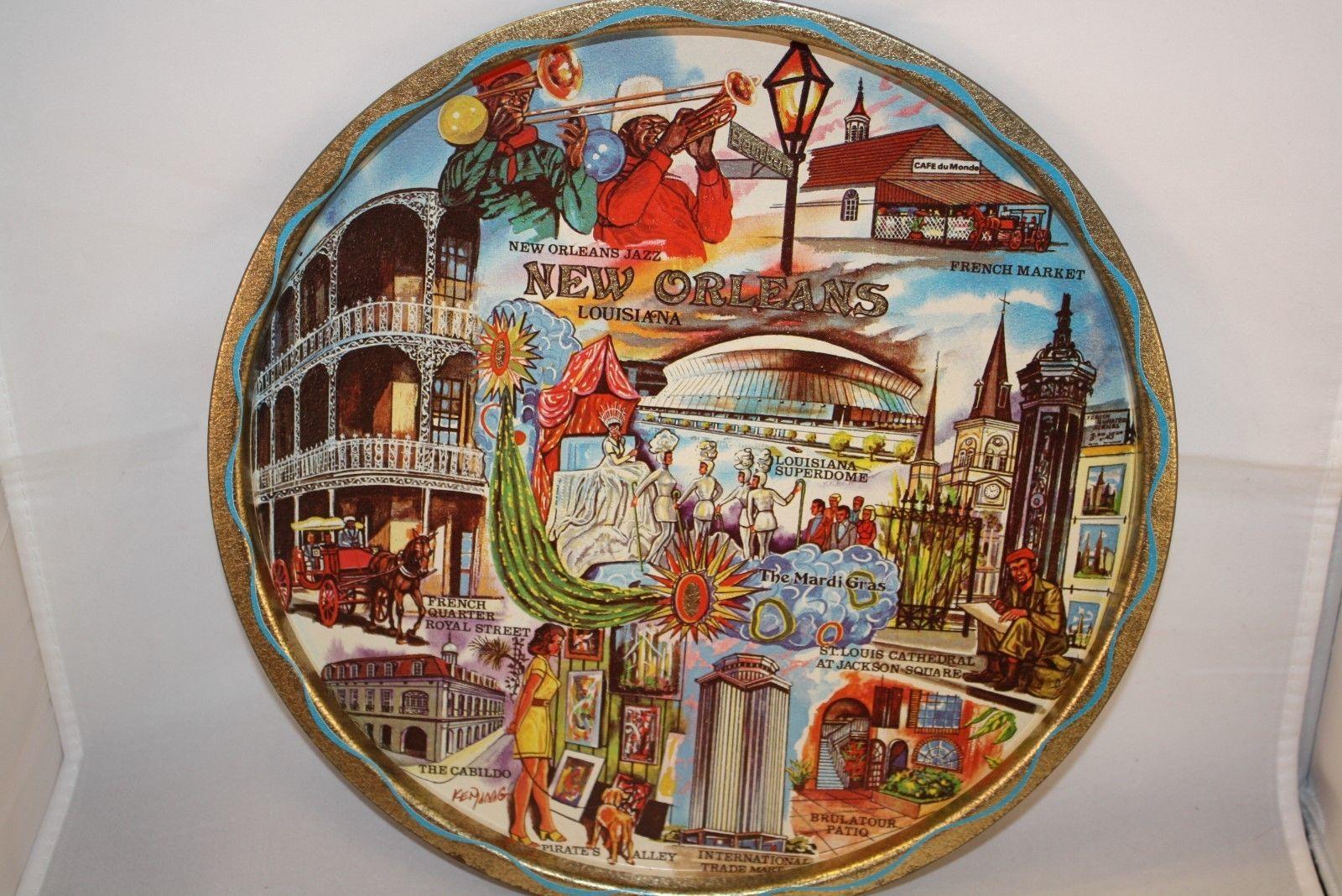 Louisiana State Ornament Brass New Orleans Mardi Gras Jazz Shreveport Bourbon St