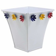 storeindya Small Metal Planter with Floral Motifs Plant Containers Stand... - $23.63 CAD