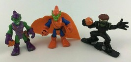 Super Hero Squad Marvel Orange Green Goblin Harry Osborn 3pc Lot Hasbro B4 - $17.77
