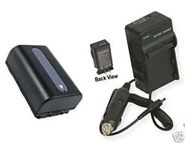 Battery + Charger for Sony HDRCX110E HDR-CX110R HDR-CX150 - $35.96