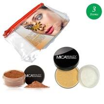 MicaBeauty Full Size Foundation MF5 Cappuccino+Mineral Blush Powder+Cosm... - $59.00