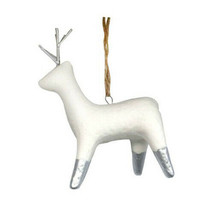 Birchwood Bay Pressed Deer Ceramic Christmas Ornament - Wondershop New 2018