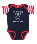 Boston Red Sox Too Cute to Be a Yankees Fan Baby Bodysuit Toddler T-Shir... - $7.87+